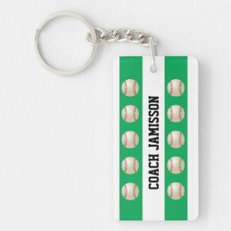 Llavero verde y blanco para el entrenador de béi