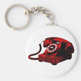 Llavero viejo de la cabina de teléfonos del escrit