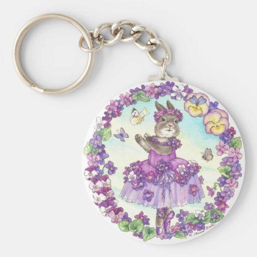 Llavero violeta