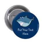 Llavero y botón lindos del tiburón pin