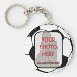 Llaveros adaptables del balón de fútbol de la foto
