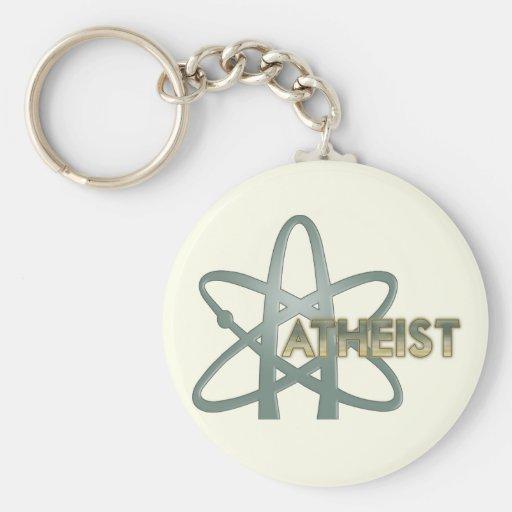 Llaveros ateos (del símbolo ateo americano)