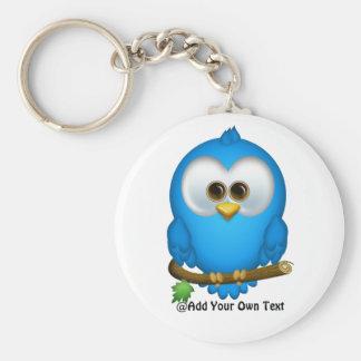 Llaveros azules del pájaro del pío de Cutie