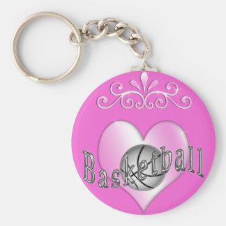 Llaveros bonitos del baloncesto para las mujeres y