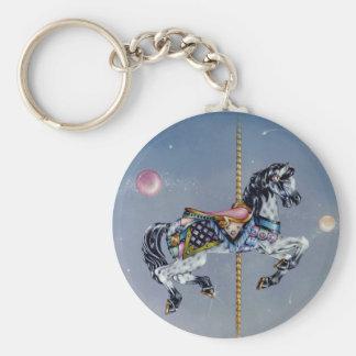 Llaveros - caballo gris del carrusel de la yegua