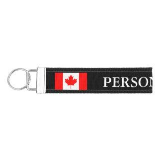 Llaveros canadienses de encargo de la muñeca de la llavero de pulsera