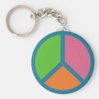 Llaveros coloridos del signo de la paz