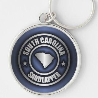"""Llaveros de acero de """"Carolina del Sur"""" (azules)"""
