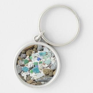 Llaveros de cristal del Driftwood del mar del