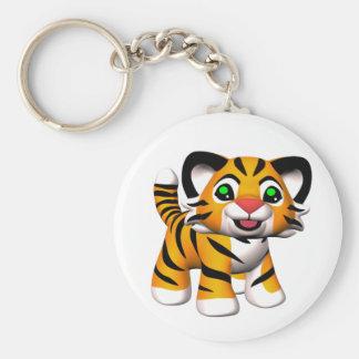 llaveros de Cub de tigre del dibujo animado 3D