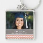 Llaveros de encargo de la foto del año de la gradu