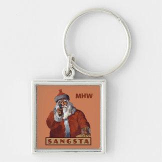 Llaveros de encargo del monograma de Gangsta Santa