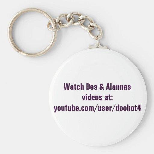 Llaveros de los vídeos del DES y de Alannas del re