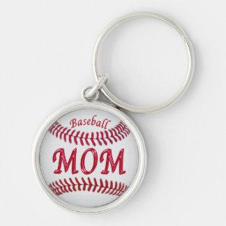 Llaveros de plata del béisbol para las mamáes