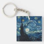 Llaveros de Van Gogh del vintage