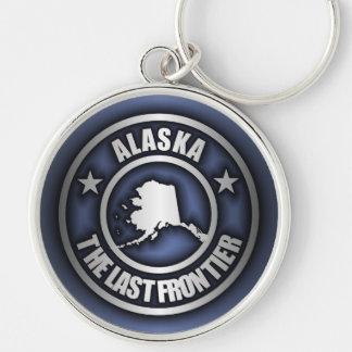 """""""Llaveros del acero de Alaska"""" Llavero Redondo Plateado"""