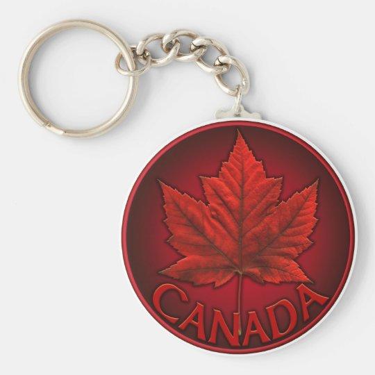 Llaveros del recuerdo de la bandera de Canadá y re