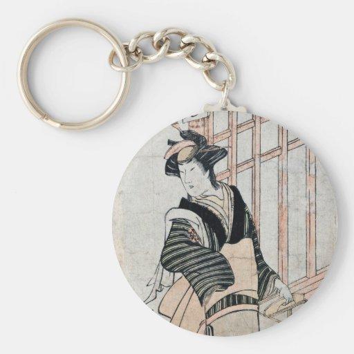 Llaveros del teatro de Kabuki del japonés