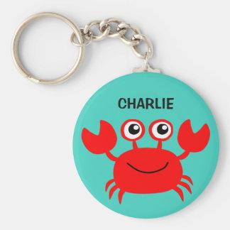 Llaveros felices del personalizado del cangrejo