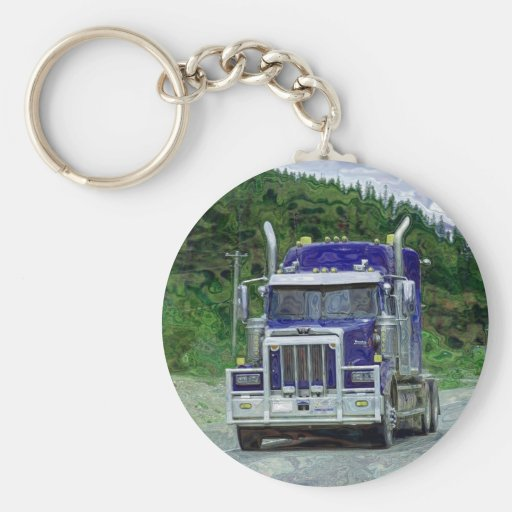 Llaveros grandes de Truckin de los conductores de