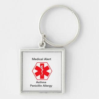 Llaveros médicos de la alarma de la alergia (perso