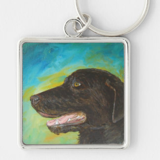 Llaveros negros del encanto del perro del labrador