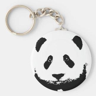 Llaveros negros y blancos de la panda