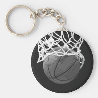 Llaveros negros y blancos del baloncesto