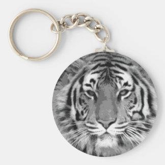 Llaveros negros y blancos del tigre