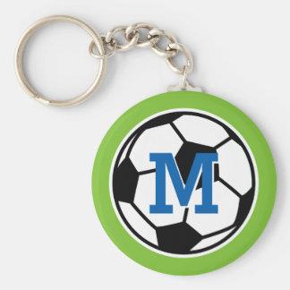 Llaveros personalizados del fútbol del monograma