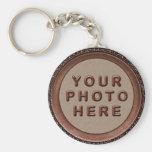 Llaveros personalizados enmarcados de la foto para
