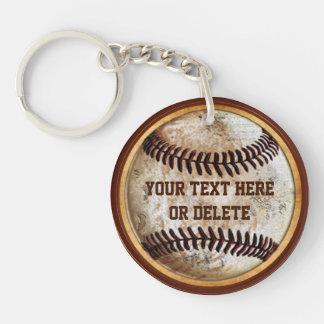 Llaveros viejos del béisbol de la apariencia
