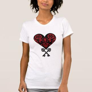 Llaves a su corazón - corazón de Steampunk del Camisetas