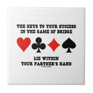 Llaves a su éxito en el juego de la mentira del azulejo cuadrado pequeño