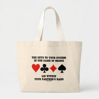 Llaves a su éxito en el juego de la mentira del bolsa tela grande