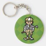 llaves al carro de golf llavero