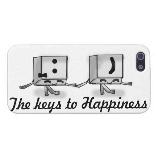 Llaves al caso del iPhone 5 de la felicidad iPhone 5 Carcasas