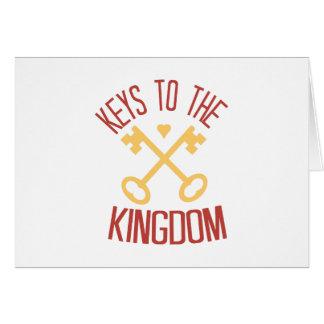 Llaves al reino tarjeta de felicitación