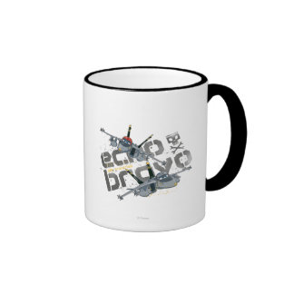 Llaves alegres del eco y del bravo taza de café
