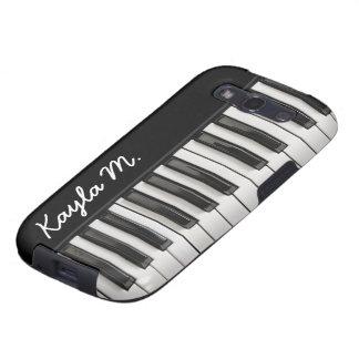 Llaves brillantes personalizadas del piano samsung galaxy SIII funda