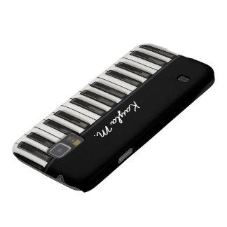 Llaves brillantes personalizadas del piano funda para galaxy s5