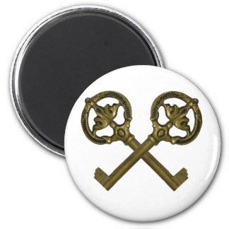 llaves cruzadas imán redondo 5 cm