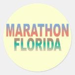 Llaves de la Florida del maratón Etiqueta Redonda