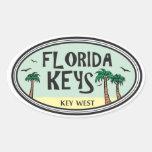 Llaves de la Florida Pegatinas De Oval