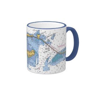 Llaves de la Florida, taza de café náutica dominan