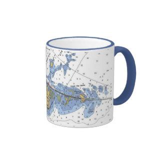 Llaves de la Florida taza de café náutica dominan