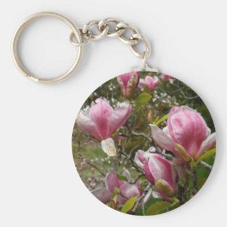 Llaves de la magnolia llavero redondo tipo pin