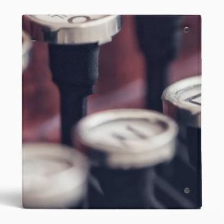 """Llaves de la máquina de escribir del vintage carpeta 1"""""""