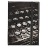 Llaves de la máquina de escribir del vintage en bl