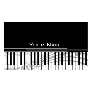 llaves de la música tarjetas de visita